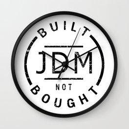 JDM Badge - built not bought Wall Clock