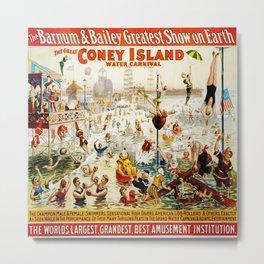 Vintage poster - Circus Metal Print