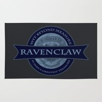ravenclaw Area & Throw Rugs featuring Ravenclaw by justgeorgia