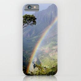 Rainbow Through the Rain: Kauai, Hawaii iPhone Case