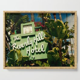 Classy Beverly Hills Hotel Mid Century Modern Neon Sign Serving Tray