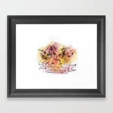 Kittens Are Girl's Best Friends Framed Art Print