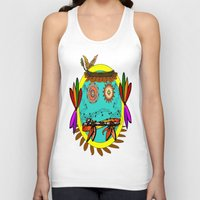 hippie Tank Tops featuring Hippie Smilie by Wired Circuit