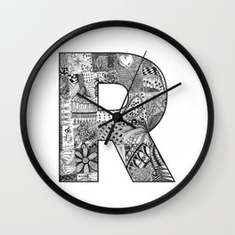 Cutout Letter R Wall Clock
