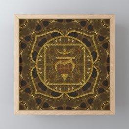 Earth Glitter   Root Chakra Framed Mini Art Print