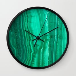 Malachite Stone Wall Clock