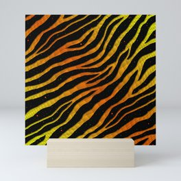 Ripped SpaceTime Stripes - Yellow/Orange Mini Art Print
