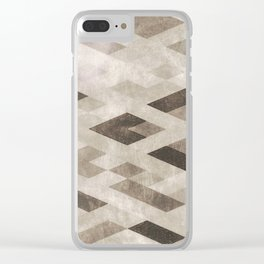 Abstract Pattern in Subtle Clear iPhone Case
