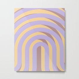 Lavender `Rainbow Arches Metal Print