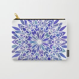 Mandala Vivid Blue Carry-All Pouch