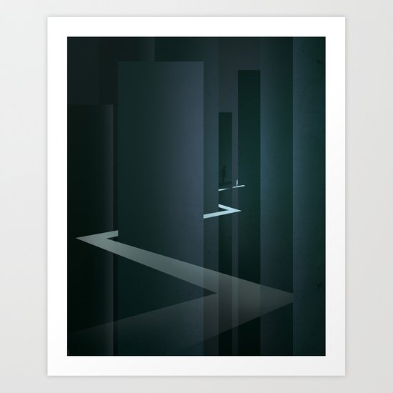 Smooth Minimal - Silver Surfer Art Print