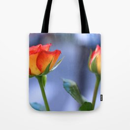 """Love planted a rose and the world turned sweet"" Tote Bag"