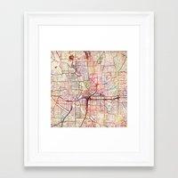 atlanta Framed Art Prints featuring Atlanta by MapMapMaps.Watercolors