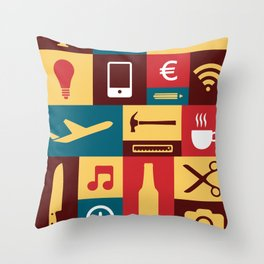 Tools for life Throw Pillow