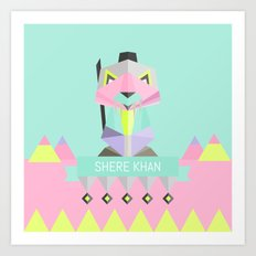 Our lovely pets -3 Shere Khan Art Print