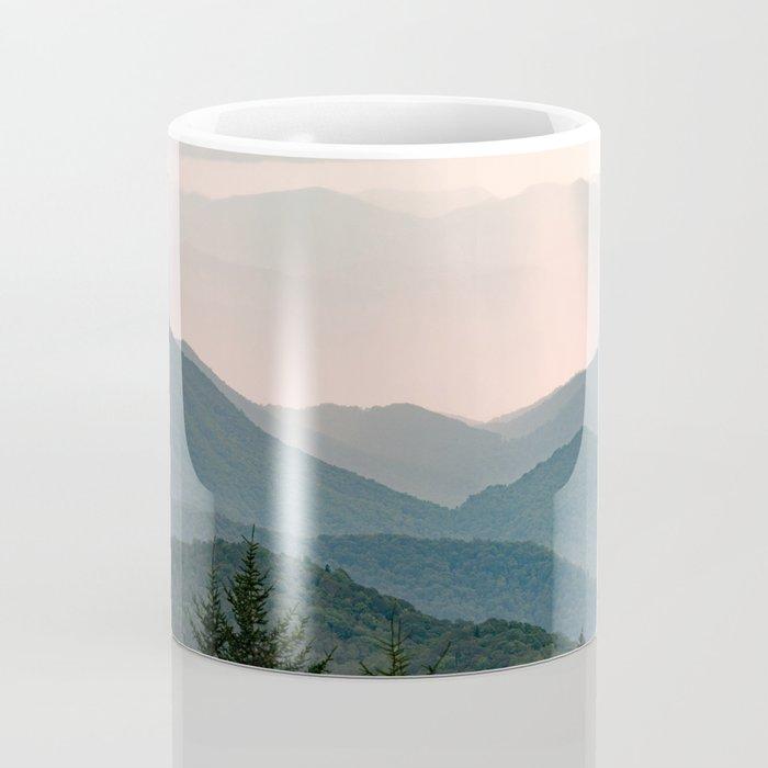 Smoky Mountain Pastel Sunset Coffee Mug