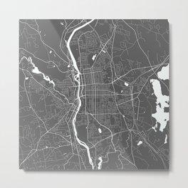 Manchester USA Modern Map Art Print Metal Print