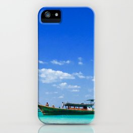 Junk on the beach iPhone Case