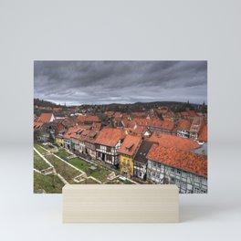 Quedlinburg Rooftops Mini Art Print