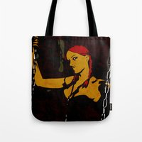 redhead Tote Bags featuring Redhead by Sandra Höfer