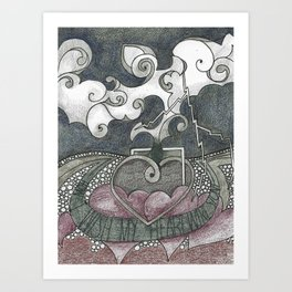 I Wish My Heart Were Stone Art Print