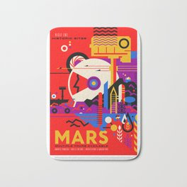 Mars - NASA Space Travel Poster (Alt) Bath Mat