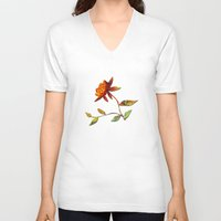andreas preis V-neck T-shirts featuring Sunflower Abstract by Klara Acel