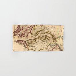 Vintage Map of The Chesapeake Bay (1719) Hand & Bath Towel