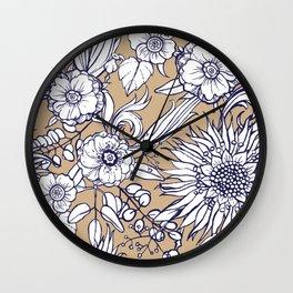 Autumnal bloom Wall Clock