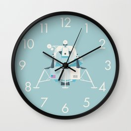 Apollo 11 Lunar Lander Module - Plain Sky Wall Clock