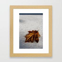crisp morning Framed Art Print