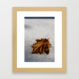 crisp morning Framed Art Print