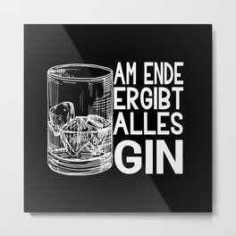Gin Alcohol Party Cocktail Drink Metal Print