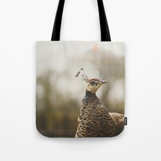 Little Miss Peahen Tote Bag