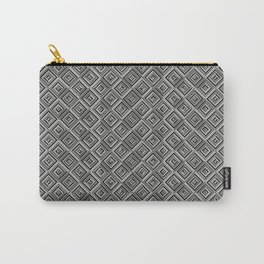 Geometric Optical Illusion Pattern VII - Black Carry-All Pouch