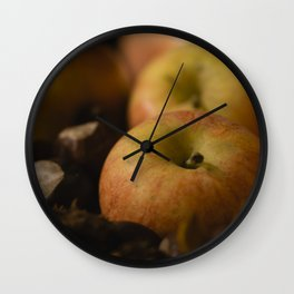 Apples and chestnuts Wall Clock
