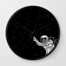 Astronaut in the outer space Wall Clock