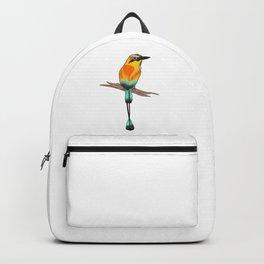 Motmot Bird Water Color & Ink Illustration Backpack