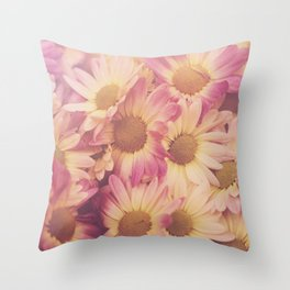 Sun Drenched Daisies Throw Pillow