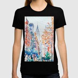 Lexington Avenue, Manhattan, New York, Watercolor painting T-shirt