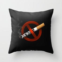 No Smoking - Smoking Kills Throw Pillow
