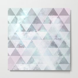 Triangle sky - Opale Metal Print