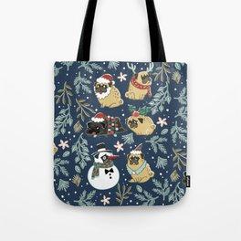 Christmas Pugs Tote Bag