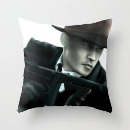 Johnny Depp// John Dillinger Throw Pillow