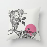 hunter Throw Pillows featuring Hunter by Zeke Tucker