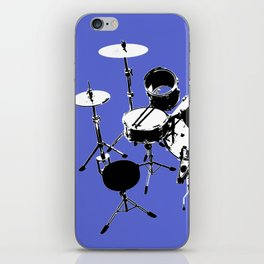 Drumkit Silhouette (backview) iPhone Skin