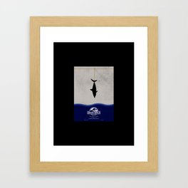 fishing the dinosaur Framed Art Print