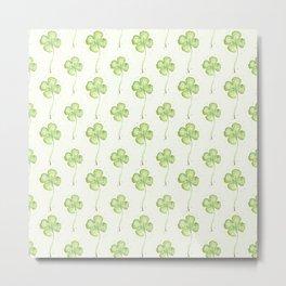 Four Leaf Clover Pattern Metal Print