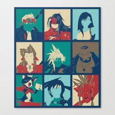 Final Fantasy VII characters POP Canvas Print