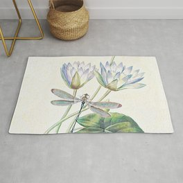 lotus and dragonfly Rug